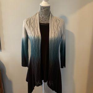 Woman's Ombré 3/4 Sleeve Cardigan